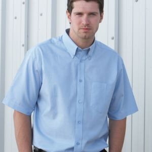 Short Sleeve Cotton/Polyester Oxford Shirt Thumbnail