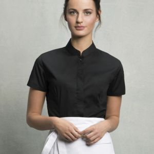 Ladies' Short Sleeved Mandarin Collar Bar Shirt Thumbnail
