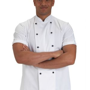 Lightweight Short Sleeve Chefs Jacket Thumbnail