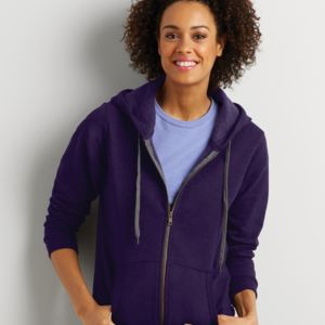 Ladies' Heavy Blend Vintage Full Zip Hooded Sweatshirt Thumbnail