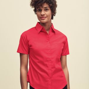 Lady-Fit Short Sleeve Poplin Shirt Thumbnail