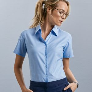 Ladies' Short Sleeve Easy Care Oxford Shirt Thumbnail